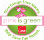 pink is green logo